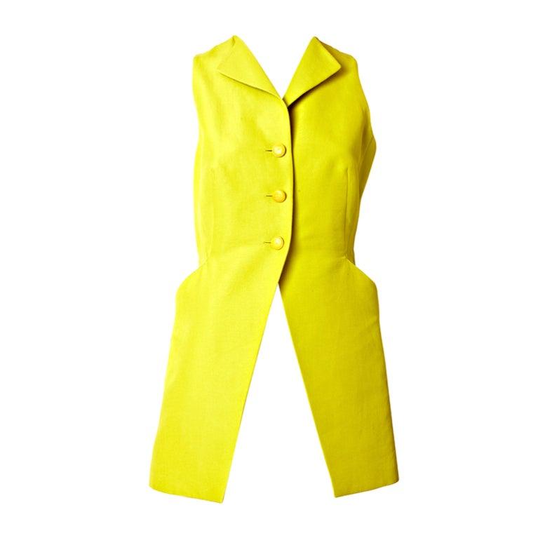 Hermes Chartreuse Sleeves Jacket 1