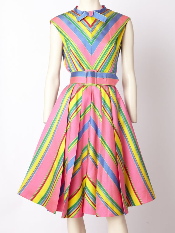 John Moore Chevron Stripe Day Dress image 2