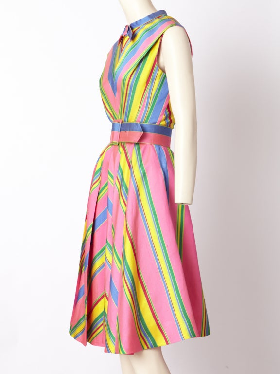 John Moore Chevron Stripe Day Dress image 3