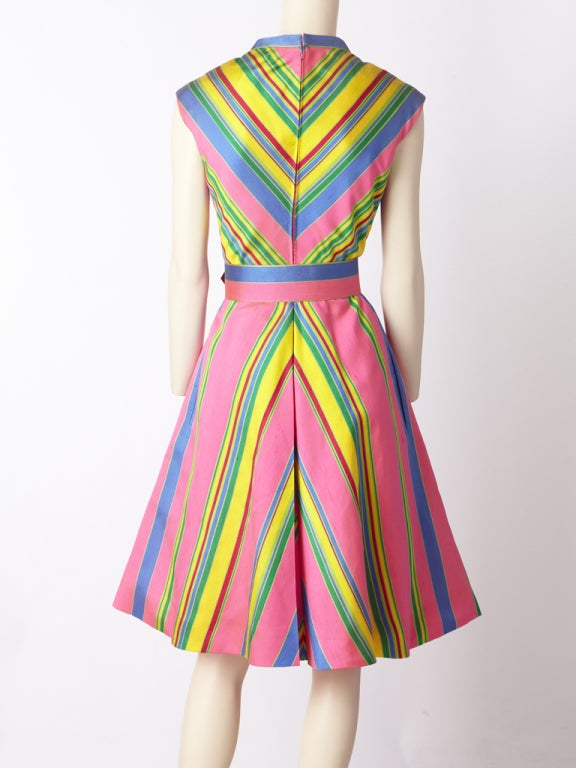 John Moore Chevron Stripe Day Dress image 4