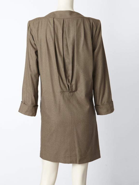 YSl Raw Silk Chemise Style Dress In Excellent Condition For Sale In New York, NY