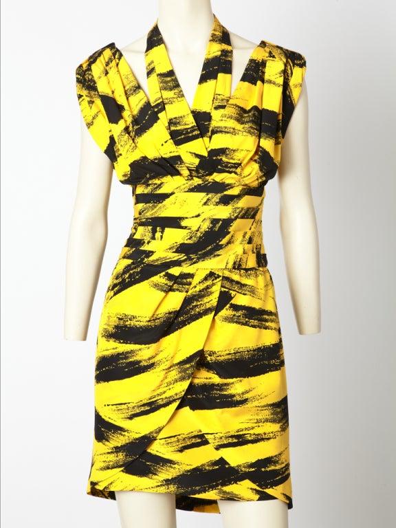 Tan Guidicelli, black and yellow, silk