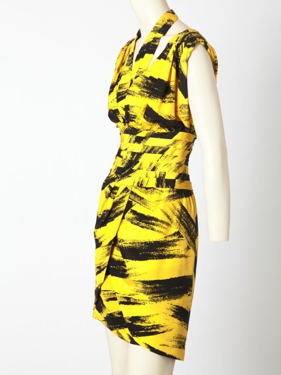 Women's Tan Guidicelli Graphic Print Dress
