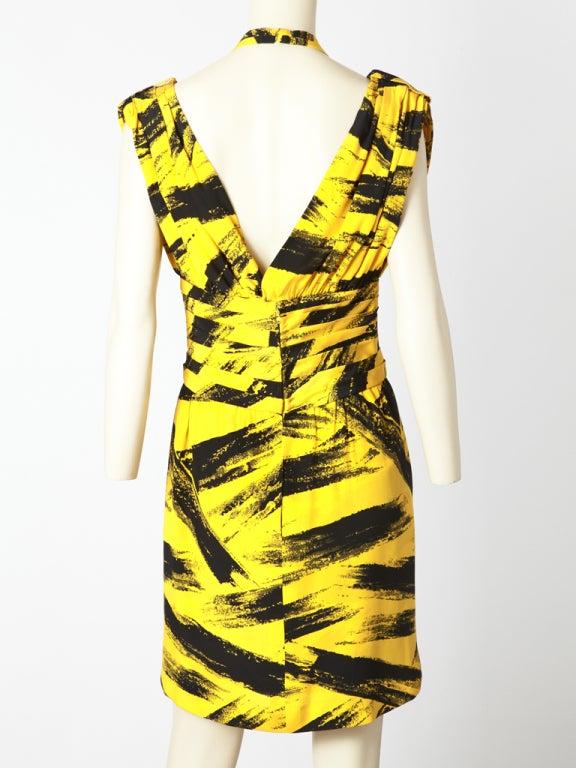 Tan Guidicelli Graphic Print Dress 1