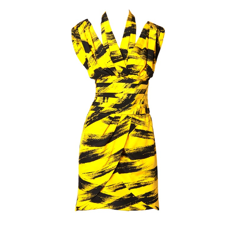 Tan Guidicelli Graphic Print Dress