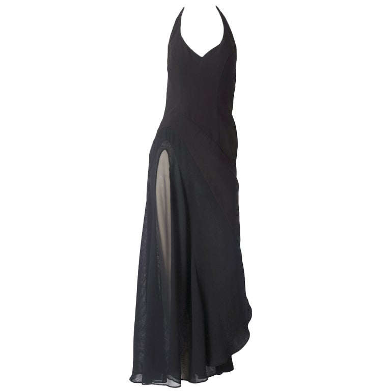 Thierry Muglar Halter Neck Dress