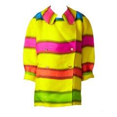 Bill Blass Colorful Organza Jacket