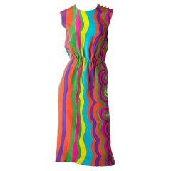 Burke-Amey Psychedelic Pattern Dress