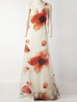 Bill Blass Poppy Flower Gown thumbnail 2
