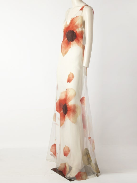 Bill Blass Poppy Flower Gown image 3