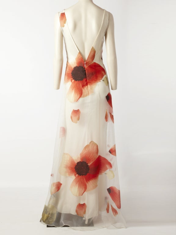 Bill Blass Poppy Flower Gown image 4