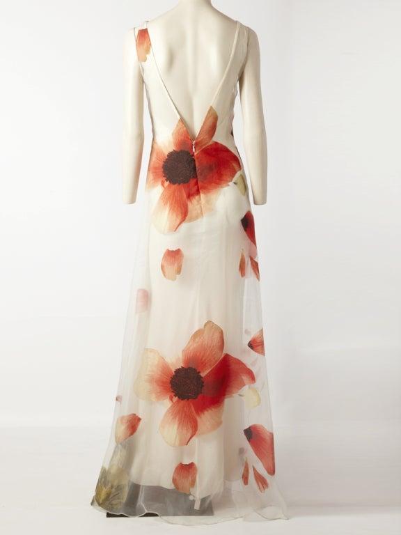 Bill Blass Poppy Flower Gown 4