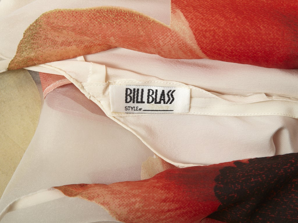 Bill Blass Poppy Flower Gown image 5