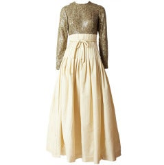 Sequined and Taffeta  60's Gown