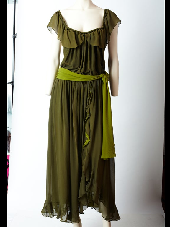YSl Chiffon Maxi Dress image 2
