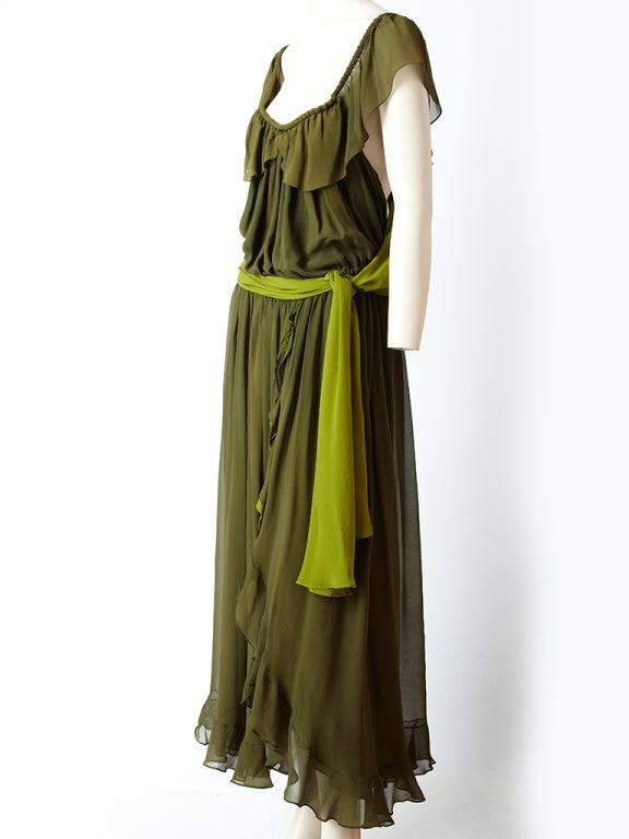 YSl Chiffon Maxi Dress image 3
