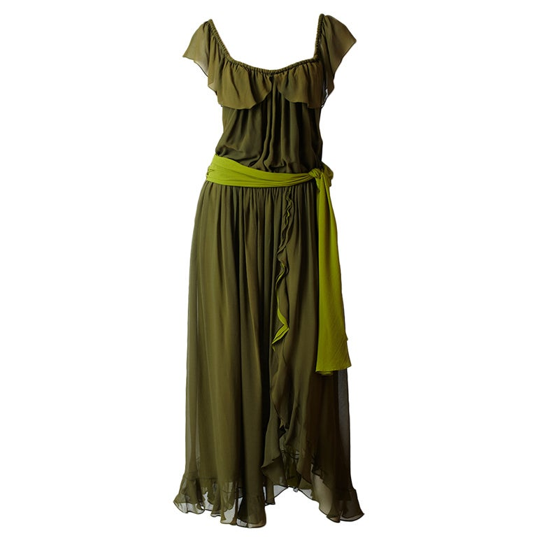 YSl Chiffon Maxi Dress