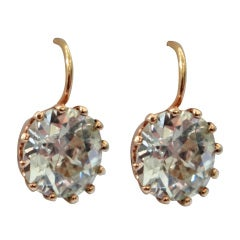 Pair of Diamond Stud Earrings in 18 Karat Yellow Gold