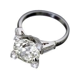 1930s Diamond Platinum Engagement Ring