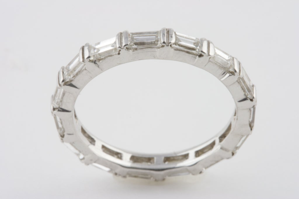 baguette cut eternity ring at 1stdibs
