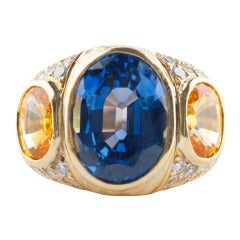 13 Carat Natural Sapphire Ring