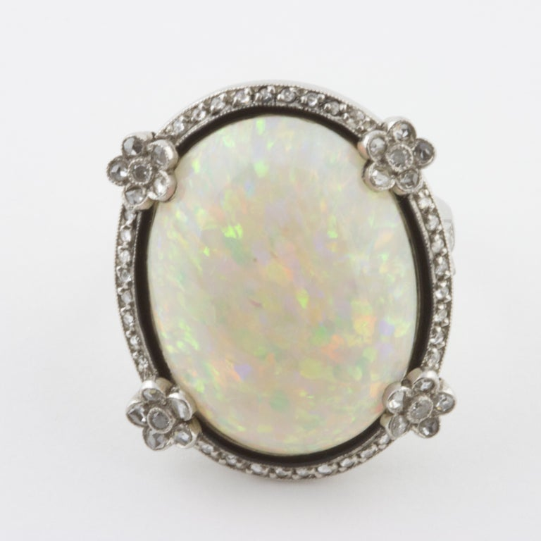 edwardian opal platinum ring at 1stdibs