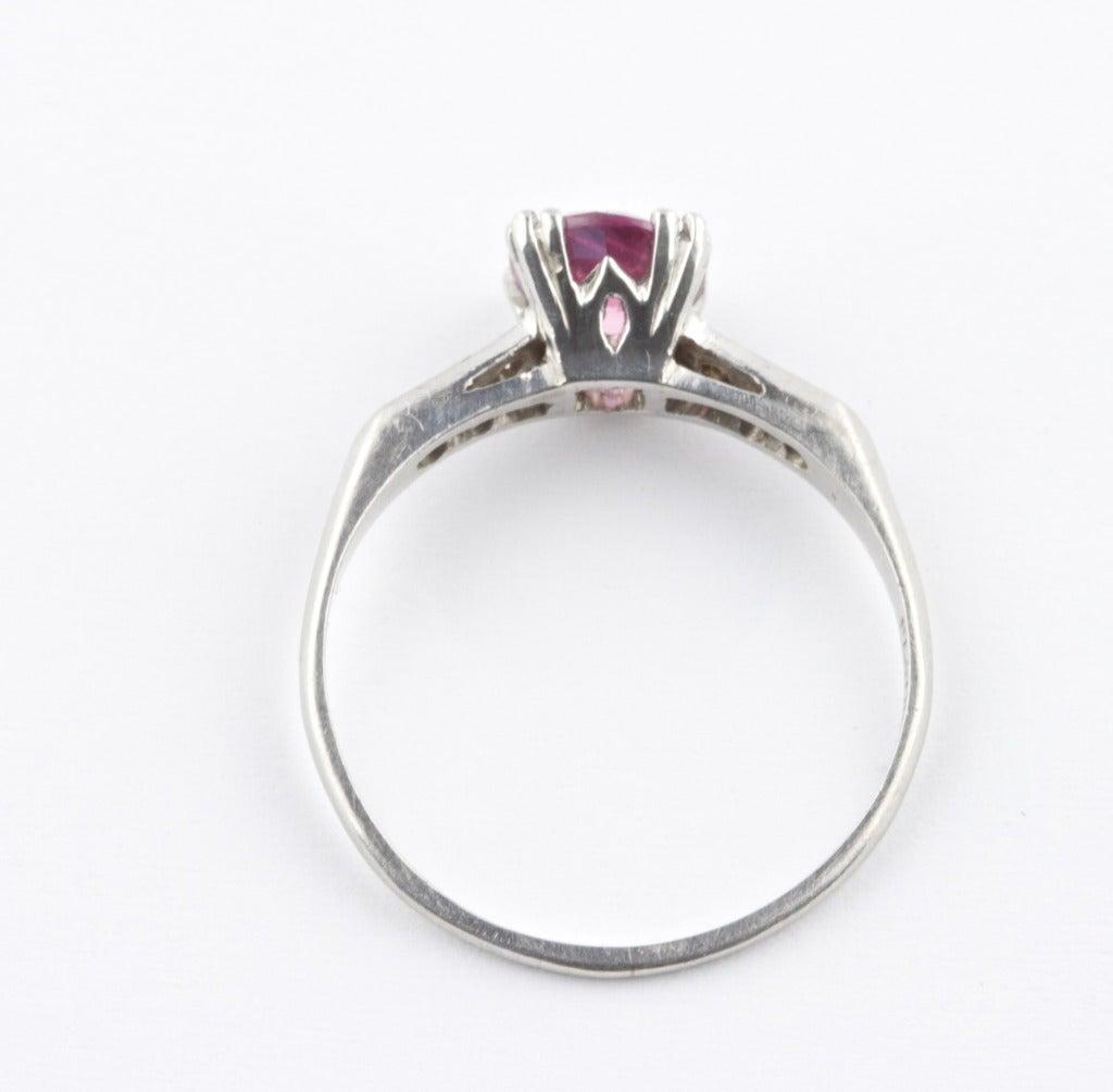 no heat sapphire platinum ring at 1stdibs