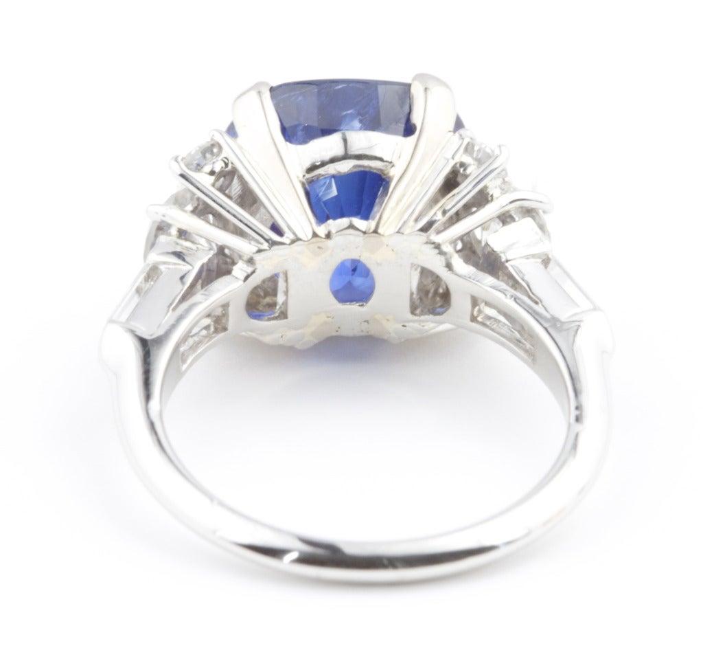 sapphire platinum ring at 1stdibs