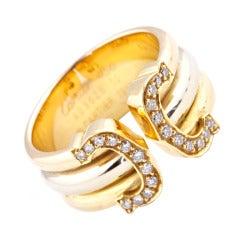 Cartier Paris Diamond Tricolor Gold Ring