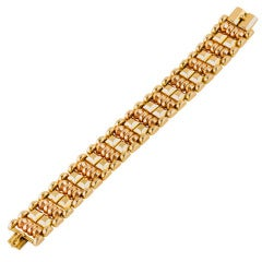 Retro Two Tone Gold Bracelet