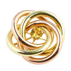 Tiffany Bicolored Gold Brooch