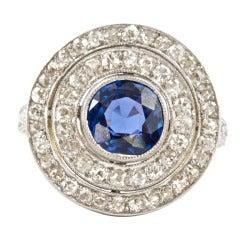 Edwardian Era Burmese Sapphire Diamond Gold Ring