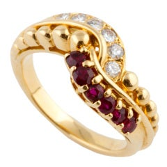 Mauboussin Ruby and Diamond Ring