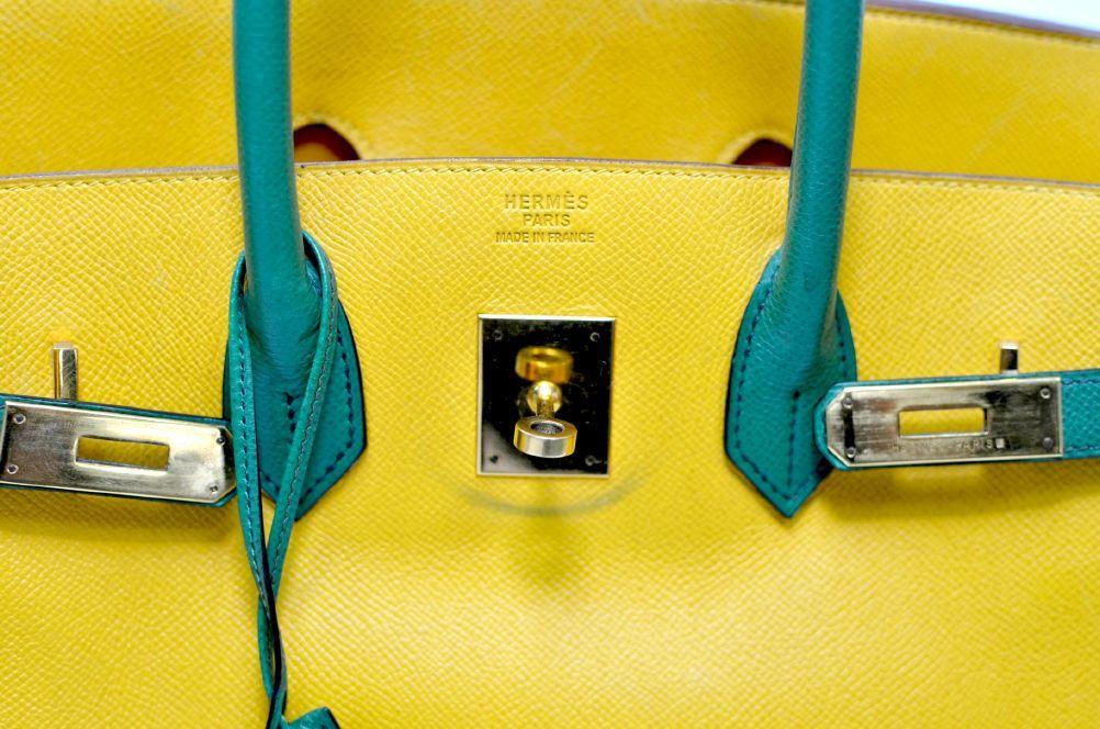 Hermes Birkin Two Tone Yellow Gold Hardware 35cm 6