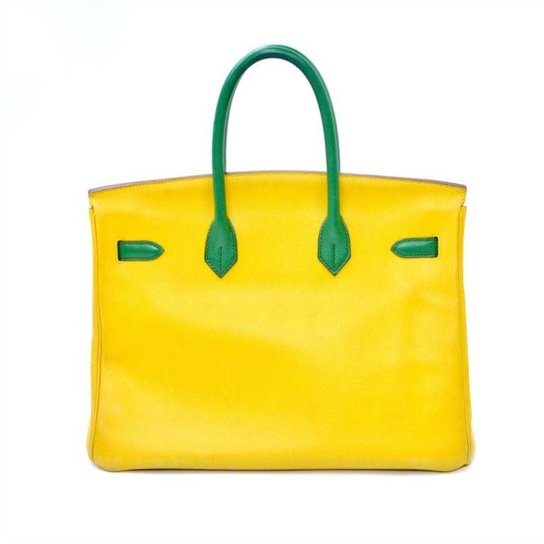 Women's Hermes Birkin Two Tone Yellow Gold Hardware 35cm For Sale