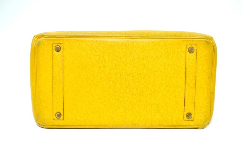 Hermes Birkin Two Tone Yellow Gold Hardware 35cm 5
