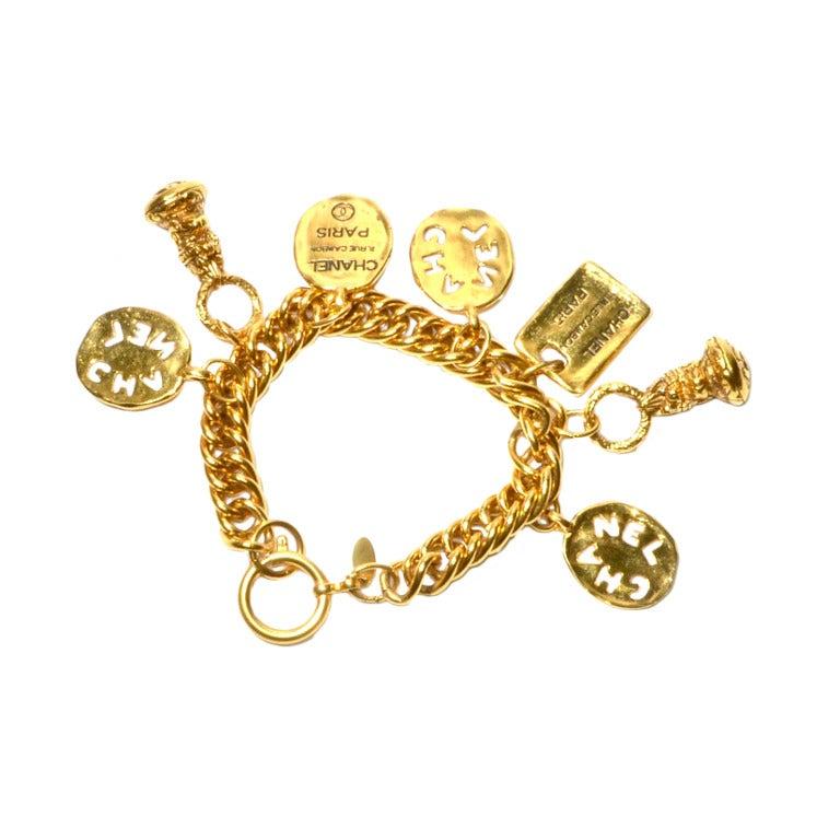 chanel charm bracelet at 1stdibs