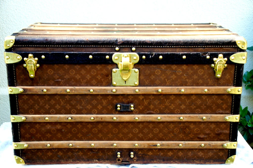 Antique Louis Vuitton Steamer Trunk Coffee Table 1904 At 1stdibs