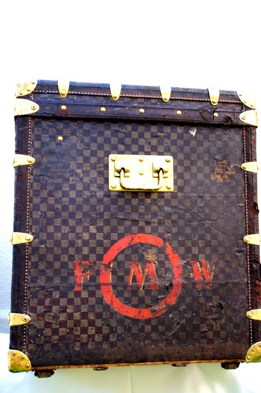 RARE HUGE Antique Louis Vuitton Haute Damier Steamer Trunk from 1893 image 4