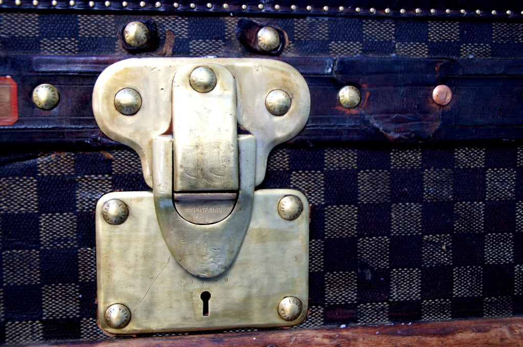 RARE HUGE Antique Louis Vuitton Haute Damier Steamer Trunk from 1893 image 7