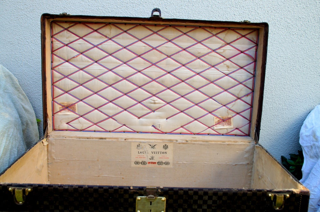 RARE HUGE Antique Louis Vuitton Haute Damier Steamer Trunk from 1893 image 9