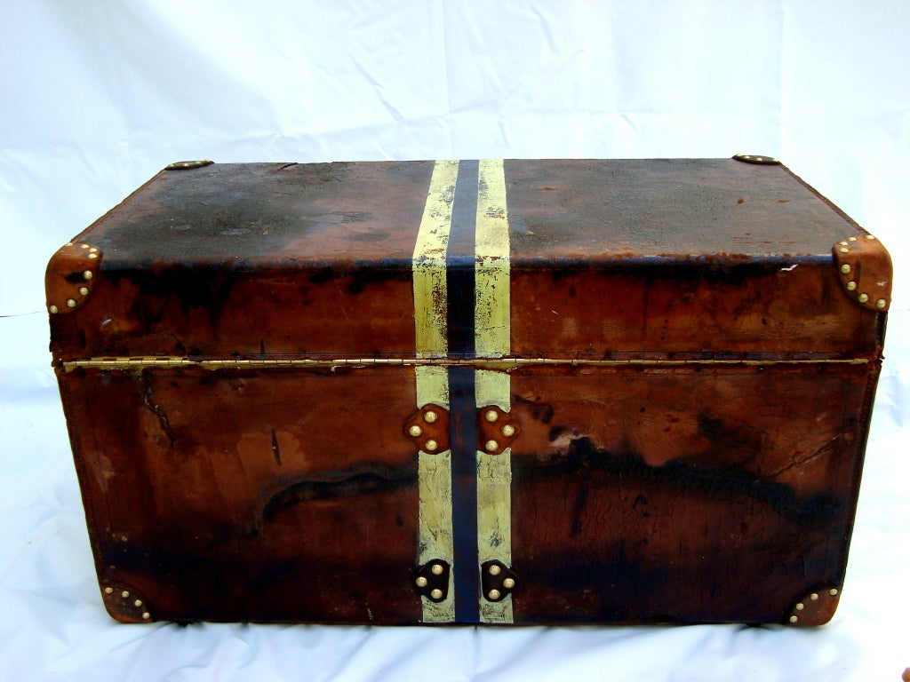 Antique Louis Vuitton Calf Leather Trunk Coffee Table From 1892 At 1stdibs