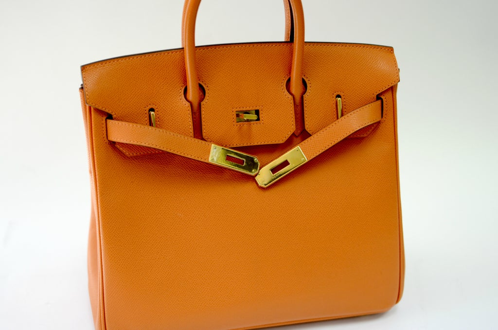 a91eb99939 Hermes Birkin HAC Orange with Gold Hardware 28cm For Sale 1