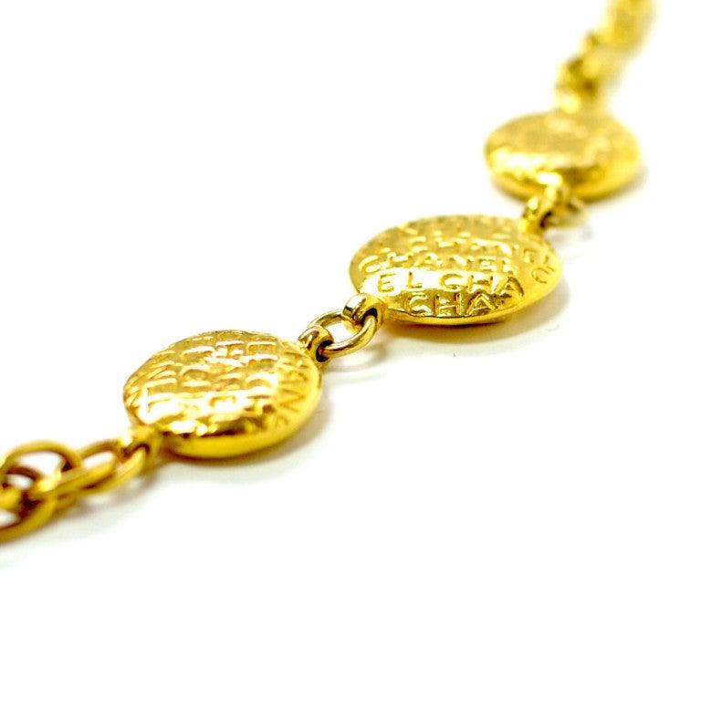 Vintage gold chanel necklace