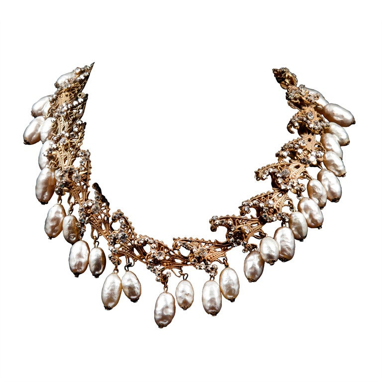 miriam haskell necklace at 1stdibs