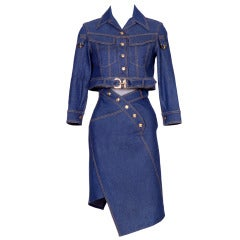 Christian Dior by John Galliano Denim Suit