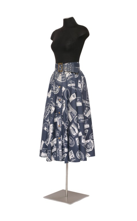 CHANEL 1950's Inspired Skirt With Matching Signed Belt 3