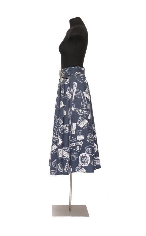 CHANEL 1950's Inspired Skirt With Matching Signed Belt 4