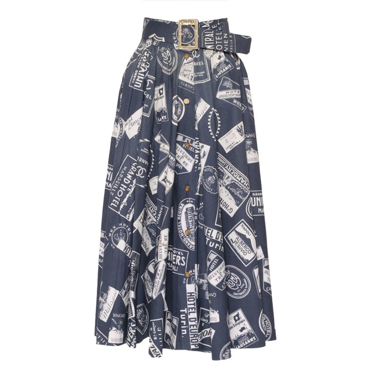 CHANEL 1950's Inspired Skirt With Matching Signed Belt 1