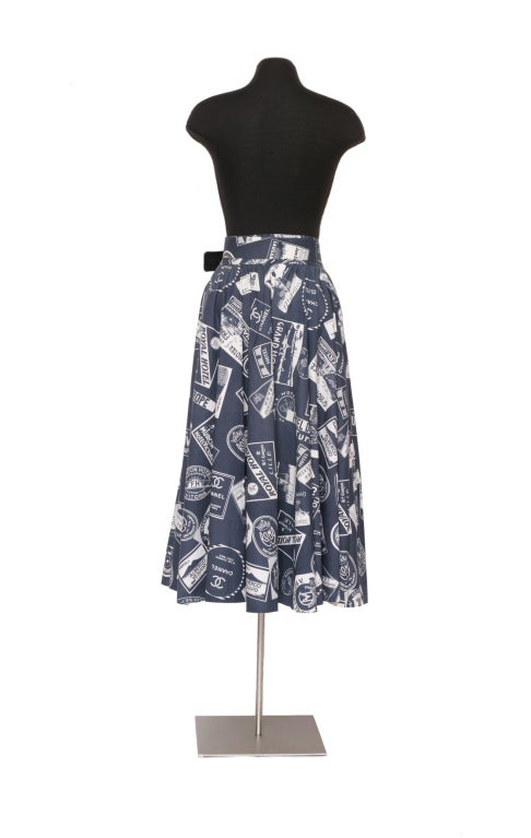 CHANEL 1950's Inspired Skirt With Matching Signed Belt 5